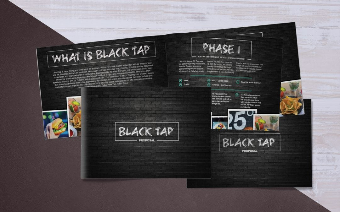 Black Tap | A5 Proposal Booklet
