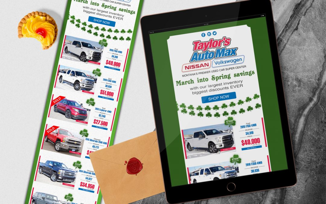 Taylor Auto - St Paddy\'s Creative | Email Design